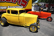 1932 Ford Posters - Yellow 1932 Ford Hot Rod . 5D16482 Poster by Wingsdomain Art and Photography