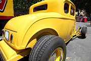 1932 Ford Posters - Yellow 1932 Ford Hot Rod . 5D16484 Poster by Wingsdomain Art and Photography