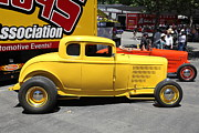 1932 Ford Posters - Yellow 1932 Ford Hot Rod . 5D16492 Poster by Wingsdomain Art and Photography