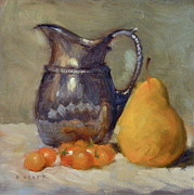 Pewter Paintings - Yellow and Orange by Roger Clark