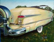Vintage Cars Pastels - Yellow Beauty by Sandra Ortega