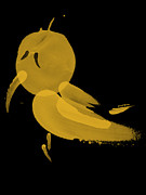 Black And Yellow Art - Yellow Bird by Cheryl Young