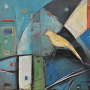 Canary Paintings - Yellow Bird by Tim Nyberg