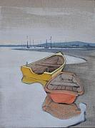 Yellow Boat 1 Print by Amy Bernays