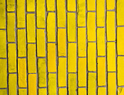 Tom Biegalski Acrylic Prints - Yellow brick wall Acrylic Print by Tom Biegalski