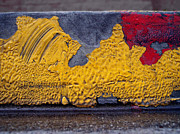 Streets Pyrography Metal Prints - Yellow Brushes Metal Print by Ludmil Dimitrov