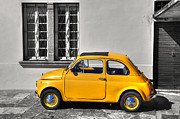 Old Car Door Photos - Yellow car by Mats Silvan