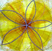 Metaphysics Prints - Yellow Chakra Print by Anne Cameron Cutri