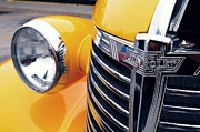 Childrens Sports Metal Prints - Yellow Chevy Metal Print by Steven Milner
