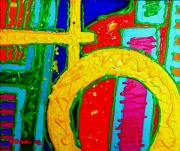 Colourful Prints Art - Yellow Circle by John  Nolan