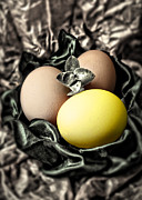 Hand Made Art - Yellow Classy Easter Egg by Danuta Bennett