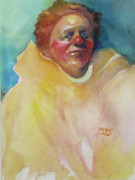 Himself Paintings - Yellow Clown by Maureen Shingleton