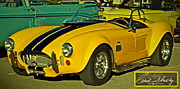 Carroll Shelby Art - Yellow Cobra by Gwyn Newcombe
