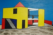 Robert Handler Art - Yellow Contemporary-Miami Beach by Robert Handler