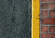 Yellow Curb Print by Dan Holm