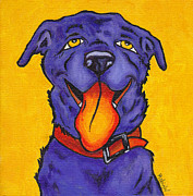 Smile Painting Framed Prints - Yellow Dog Framed Print by Robin Wiesneth