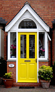 Roberto Alamino Prints - Yellow Door Print by Roberto Alamino