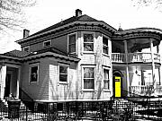 Heritage House Prints - Yellow Door Print by Will Borden