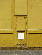 Wood Digital Art Originals - Yellow Door with Accent by Ben Freeman