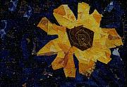Sunflowers Tapestries - Textiles - Yellow Flower by Pam Geisel