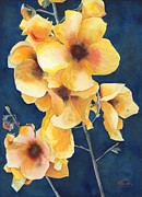 Yellow Flowers Print by Ken Powers