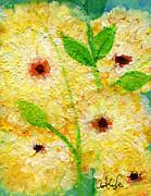 Yellow Flowers Laugh In Joy Print by Ashleigh Dyan Bayer