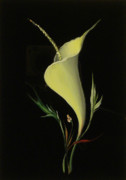 Flowers Glass Art Framed Prints - Yellow glass Framed Print by Venyamin Astashov