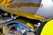 Harley Davidson Photo Originals - Yellow Harley 6 by Bill Owen