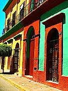 Michael Metal Prints - Yellow House by Michael Fitzpatrick Metal Print by Olden Mexico