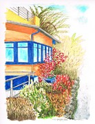 Arquitectura Prints - Yellow-house-venice-california Print by Carlos G Groppa