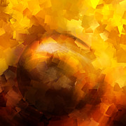Eternity Digital Art - Yellow Impact by Ann Croon