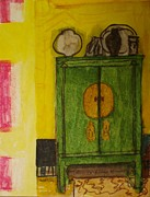 Antiques Paintings - Yellow Interior by Moneca AtleyLoring