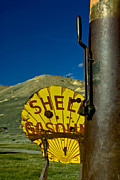 Shell Sign Art - Yellow is for Shell by Aron Kearney Photography