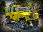 Yellow Jeep Print by Adrian Evans