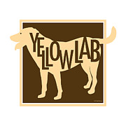 Yellow Lab Print by Geoff Strehlow