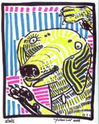Yellow Lab Print by Robert Wolverton Jr