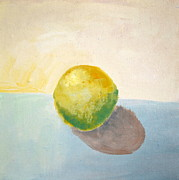 Mod Paintings - Yellow Lemon Still Life by Michelle Calkins