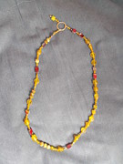 Ring Jewelry - Yellow Matt Bead Necklace by Jan Durand