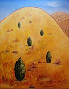 Scott Plaster Paintings - Yellow Mountain by Scott Plaster