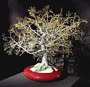 Sal Villano Art - Yellow Oak - Wire Tree Sculpture by Sal Villano