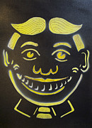Asbury Park Amusements Painting Originals - Yellow on Black Tillie by Patricia Arroyo