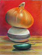 Compostion Art - Yellow Onion Jalapeno by GPaul Lucas