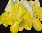 Sweta Prasad Paintings - Yellow Orchids by Sweta Prasad