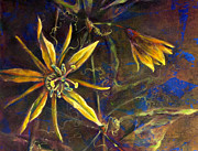 Passionflower Painting Prints - Yellow Passion Print by Ashley Kujan