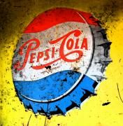 Yellow Pepsi Pop Art Print by Gary Everson