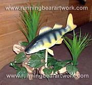 Cedar Sculptures - Yellow Perch by Michael Meissner