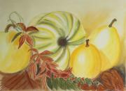 Fall Pastels - Yellow Pumpkins by Christiane Schulze