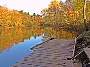 Fall River Scenes Prints - Yellow River 2 Print by Dave Dresser