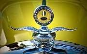 Antique Automobiles Photos - Yellow Roadster by Gwyn Newcombe