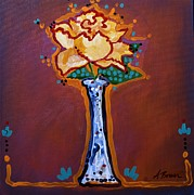Bright Colors Prints - Yellow Rose Print by Adele Bower
